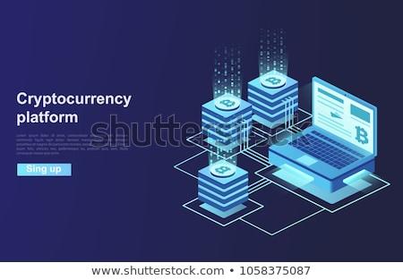 Bitcoin Platform Blockchain Vector Illustration Stock photo © robuart