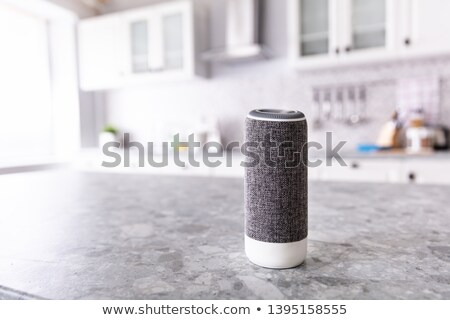 Close-up Of Voice Assistant Speaker On Kitchen Counter Stock photo © AndreyPopov