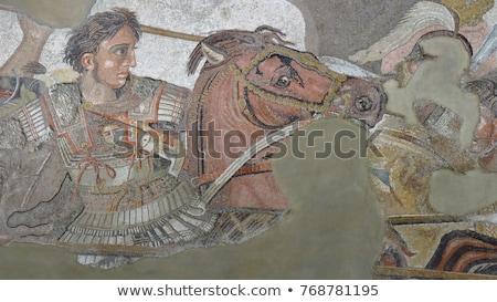 иллюстрация · лошади · войны · Живопись · черный · власти - Сток-фото © sifis