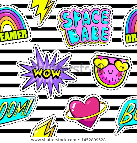 pattern with fashion patch badges stock photo © frescomovie