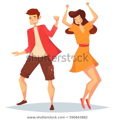 Modern kadın dans disko müzik gömlek Stok fotoğraf © studiostoks