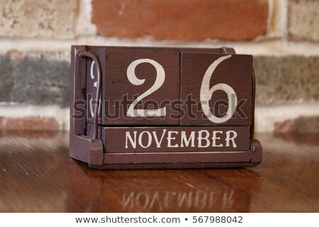 A calendar showing the 26th of November Stock photo © colematt