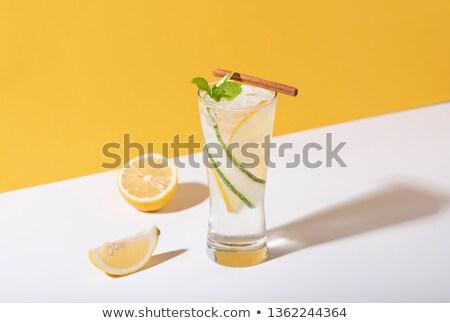 frio · álcool · mojito · de · cal · escuro - foto stock © grafvision