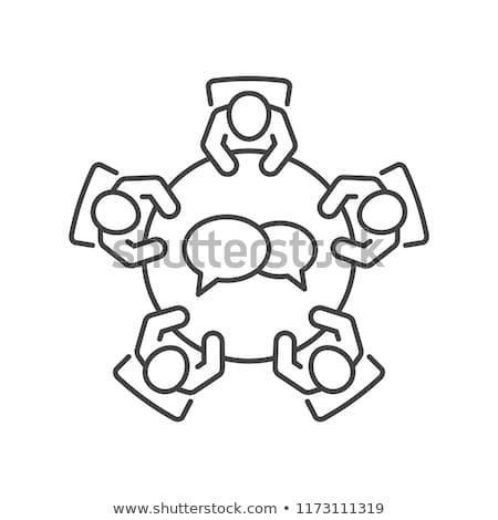 Burza mózgów ikona cienki line projektu technologii Zdjęcia stock © angelp