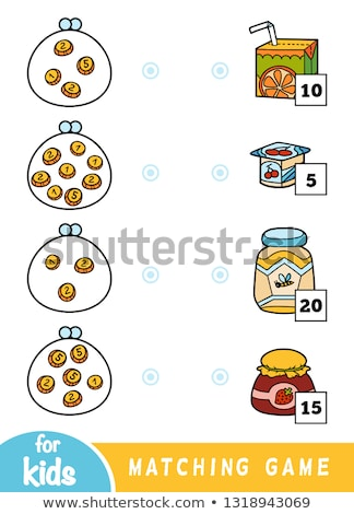 Mathematics matching  worksheet template Stock photo © colematt