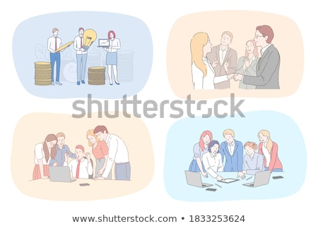 Leadership and Making Success in Profits Money Stock photo © robuart