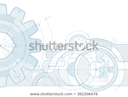 blue technical gear diagram background Stock photo © SArts