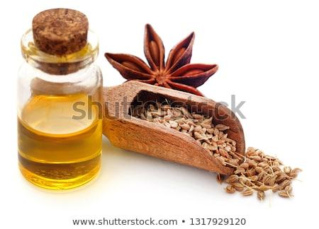 Anís semillas jar blanco fondo Foto stock © bdspn