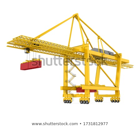 port cargo cranes stock photo © mayboro