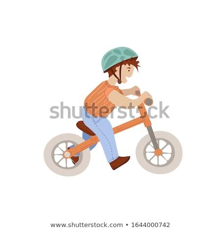biciklizik · terv · fehér · tipográfia · pénz · üzletember - stock fotó © vicasso