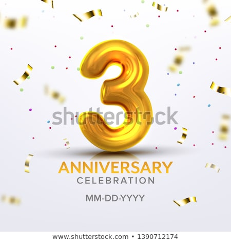Third Anniversary Birth Celebration Number Vector Stock photo © pikepicture