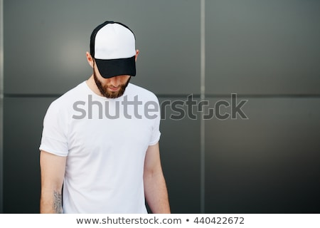 Front Views Of T-shirt And Baseball Cap On White Background Stock photo © adamson