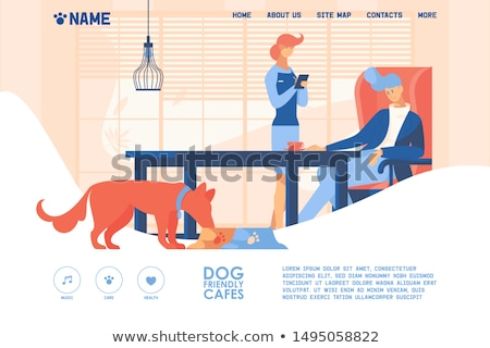 Dogs friendly place concept landing page Stock photo © RAStudio