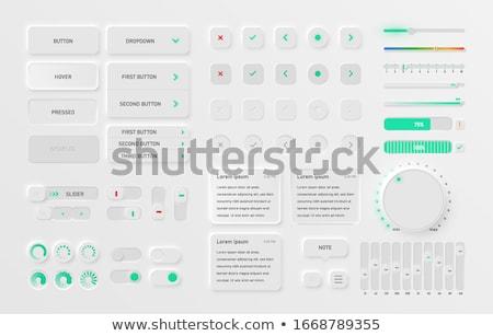 Witte gebruiker interface knoppen ingesteld ontwerp Stockfoto © SArts