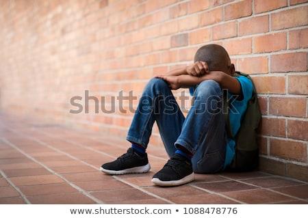 мальчика сидят только стены отец Сток-фото © Lopolo