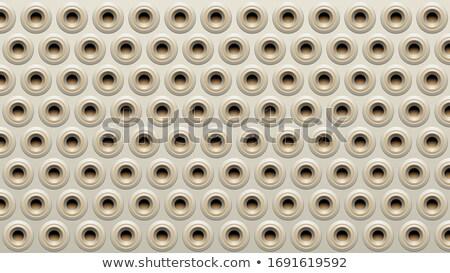Beige and Grey Embossed Round Loudspeaker Background Vector Illu Stock photo © cidepix