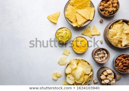 Sal salsa piedra textura alimentos madera Foto stock © masay256