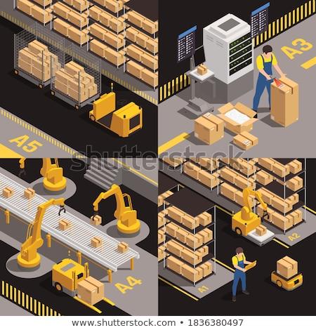 fully stored warehouse Stock photo © unkreatives