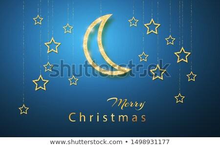 vrolijk · christmas · goud · schitteren - stockfoto © olehsvetiukha