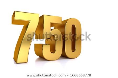 zestig · zeven · procent · witte · geïsoleerd · 3D - stockfoto © iserg