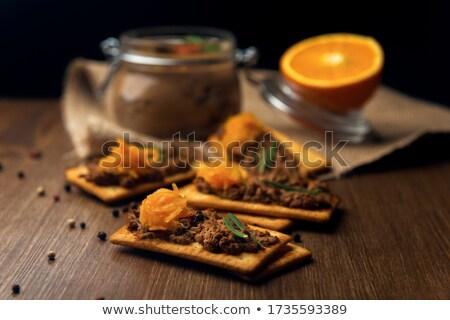 tyúk · máj · tál · étel · közelkép - stock fotó © grafvision