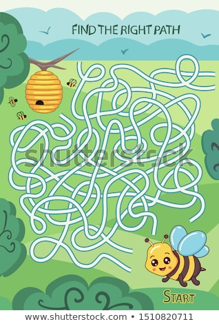maze find the right way stock photo © olena