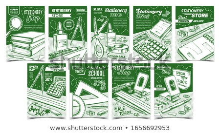 Eraser Stationery Equipment Monochrome Vector Stock photo © pikepicture