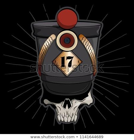 Cráneo logo vintage caballería oficial sombrero Foto stock © Genestro