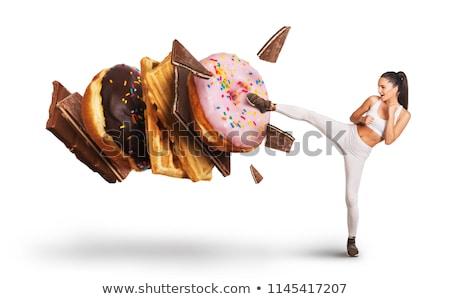 Voedsel verslaving eten verleiding idee diner Stockfoto © Lightsource