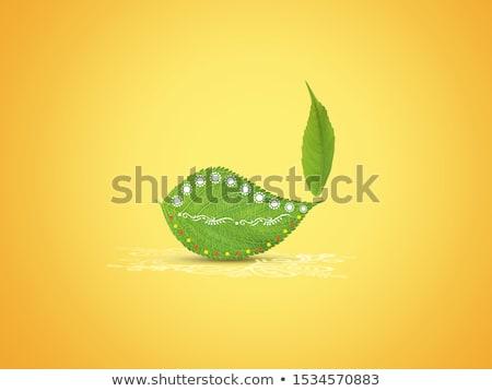 Glücklich Diwali Blätter Design Blatt Stock foto © SArts