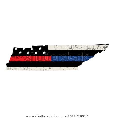 Tennessee bombeiro apoiar bandeira ilustração bandeira americana Foto stock © enterlinedesign