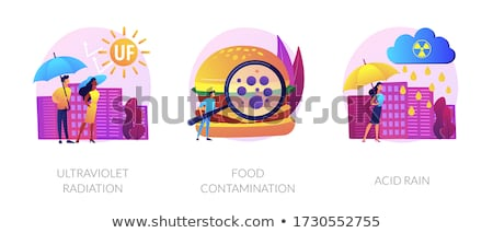 Radioactive effect, Earth atmosphere pollution, damage to human health vector concept metaphor. Stock photo © RAStudio