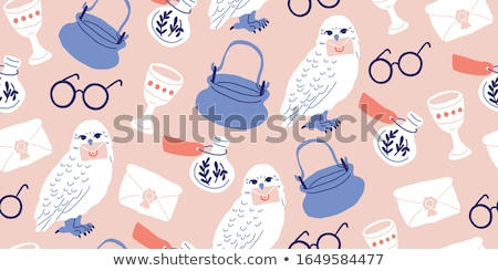 Witchcraft cute vector doodle hand drawn seamless pattern Stock photo © foxbiz