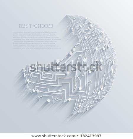 modern digital technology earth concept background design Stock photo © SArts