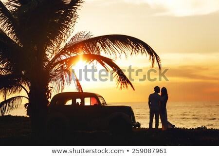 beautiful couple on a tropical beach cuba Stock photo © Lopolo