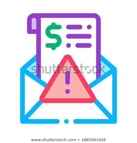 Fake Money Criminal Liability Warning Icon Vector Outline Illustration Stock photo © pikepicture