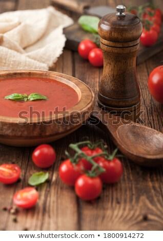 пластина сливочный томатный суп перец Сток-фото © DenisMArt