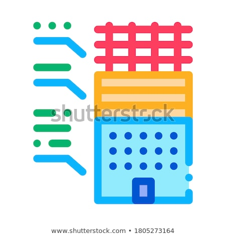 analysis of functions of parts of residential building icon vector outline illustration Stock photo © pikepicture