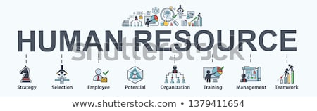 Hr Human Resources Minimal Infographic Banner Vector Stock photo © pikepicture