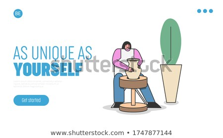 Art School Lessons of Pottery Making Website Page Stock photo © robuart