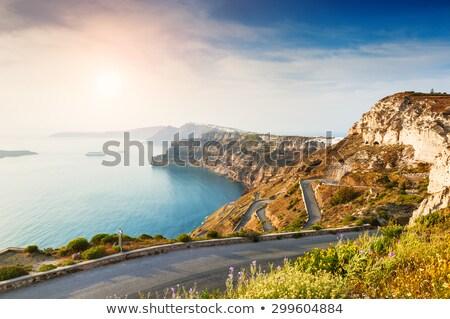海 表示 山 地中海 日没 夏休み ストックフォト © Anneleven