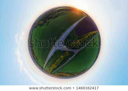 Planet spherical panorama 360 of summer roads Stock photo © olira