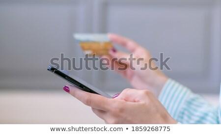close up of hands using black interactive panel Stock photo © dolgachov