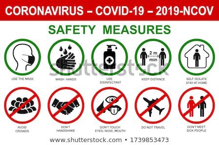 Collection of coronavirus, ncov, covid - 19 logos. Warning signs Stock photo © ExpressVectors