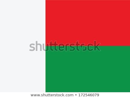 Madagaszkár zászló fehér felirat utazás piros Stock fotó © butenkow