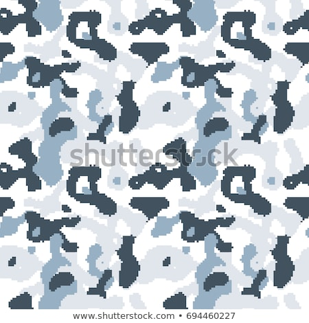 Modern pixelated camouflage seamless pattern to disguise in snow Stock photo © evgeny89