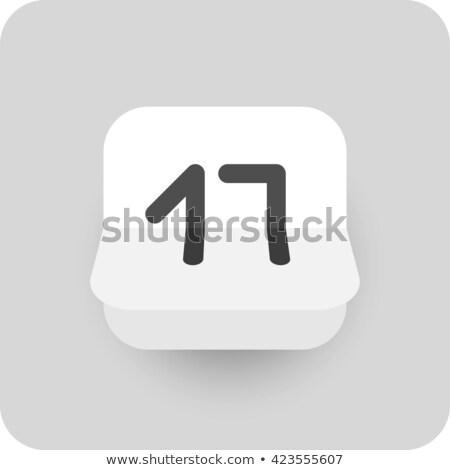Simples preto calendário ícone 17 dezembro Foto stock © evgeny89