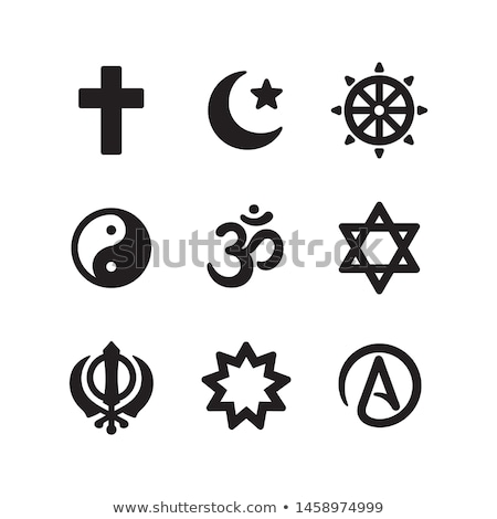Hinduism religion simple black icon Stock photo © evgeny89