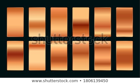 Cuivre rose or prime gradient palette Photo stock © SArts