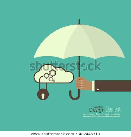 Personnelles protection des données vecteur métaphore nuage stockage Photo stock © RAStudio